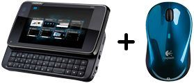 Nokia n900 and Logitech V470
